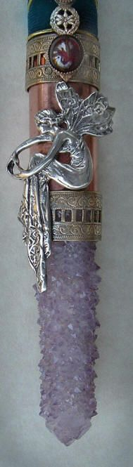 ☆ Silver Lady of the Waters Crystal Wand -::- Shop: Heartsongs by Ishani ☆