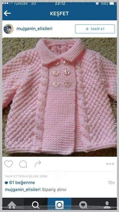 Free Knitting Pattern Baby Cardigan with Cables Baby Cardigan Knitting Pattern Free, Easy Knitting Patterns, Cardigan Pattern, Knitting For Kids, Knitting Designs, Baby Patterns, Baby Knitting, Pink Cardigan, Free Knitting