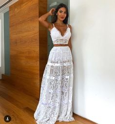 trendy: tips for 'all white' looks for New Year's Eve - OWN RG by Lu K . Cute Casual Outfits, Boho Outfits, Summer Outfits, Summer Dresses, Beachwear Fashion, Boho Fashion, Fashion Dresses, Havanna Party, Prom Dresses