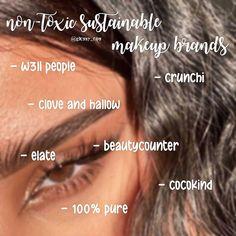 Sustainable makeup brands Teen Makeup, Makeup For Teens, Non Toxic Makeup, Natural Makeup Tips, Makeup Tips For Beginners, Makeup Brands, Makeup Routine, Sustainability, Skincare