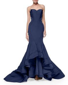 Strapless Seamed Mermaid Gown by Zac Posen at Bergdorf Goodman.