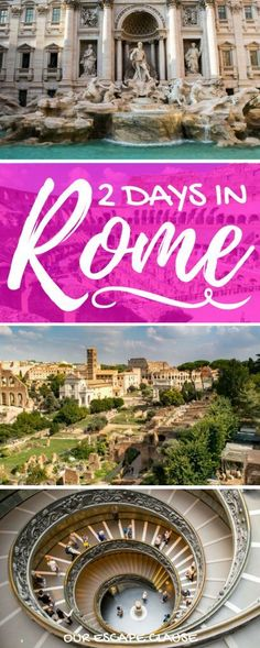 Heading to Rome? Check out this 2 days in Rome itinerary to see all of Rome's best sights, fast! Also learn how to get around, when to go to Rome, and more! #italy #rome  #travel #itinerary European Vacation, Italy Vacation, European Travel, Italy Trip, Cruise Italy, Euro Travel, Italy Travel Tips, Rome Travel, Travel Destinations