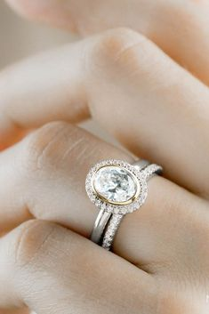 noam carver engagement rings bridal sets white gold rings halo rings noam carver Halo Rings, Diamond Rings, Or Rose, Rose Gold, Best Engagement Rings, Bridal Sets, White Gold Rings, Boho Chic, I Am Awesome