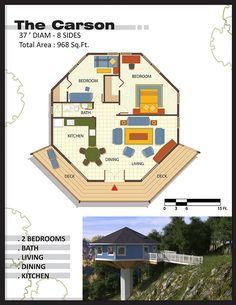 Coastal House Plans, Cabin House Plans, Beach House Plans, Dream House Plans, House Floor Plans, Round House Plans, Small House Plans, Cabin Design, Small House Design