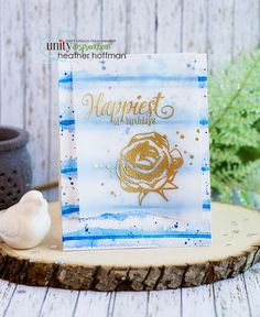Unity Stamp Company: Inspiration Wednesday - Loose Watercolor Stripes with Gold