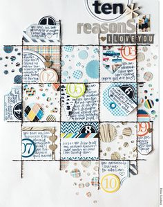 10 Reasons » Pretty Little Studio--Elise Lindsey--Totally love all the little bits and pieces in this grid!