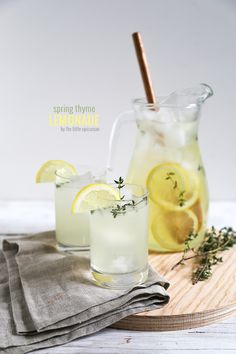 spring thyme lemonade from @Maryanne Cabrera {The Little Epicurean}