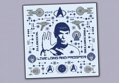 Star Trek pillow sampler - Spock - Cross Stitch Patterns - Products