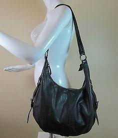 Jones Boot maker black leather slouch bag shoulder bag handbag purse R14899 #style #fashion #love #woman #chic #follow #eBay #handbag #sangriasuzie