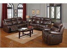 Chestnut Leather Reclining Sofa Loveseat Recliner Glider Inner Console