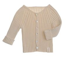 NaturaPura Organic Cotton Knit Sweater, Ecru, size 6 mo.