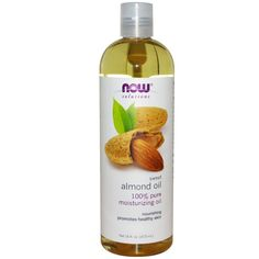 Now Foods Solutions Sweet Almond Oil 16 fl oz 473 ml All-Natural Hexane-Free Homemade Moisturizer, Homemade Skin Care, Homemade Products, Natural Oils, Natural Skin, Natural Healing, Coconut Oil Hair Mask, Almond Oil Hair, Cellulite Scrub