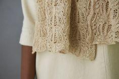 Botanical Lace Wrap | Purl Soho Lace Knitting Patterns, Knitting Stitches, Crochet Scarves, Knit Crochet, Purl Soho, Lace Wrap, Cool Sweaters, Knitting Projects, Lace Shorts