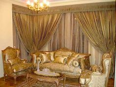 curtains design for living room, Luxurious drapes