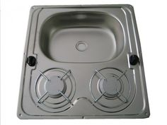 Gas  cooktop / for boats / two-burner / with sink COMB2F4946R FILAME Polska Sp z o.o.