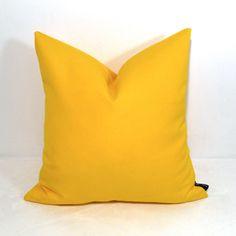 Yellow Pillow Cover Decorative Indoor Outdoor by Mazizmuse No Sew Pillow Covers, Outdoor Pillow Covers, Outdoor Cushions, Outdoor Fabric, Indoor Outdoor, Yellow Pillow Cases, Yellow Throw Pillows, Colorful Pillows, Decorative Throw Pillows