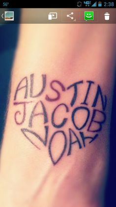 Cute idea for tattooing kids names