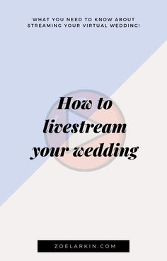 Livestreaming your wedding is a hot topic right now! I thought it'd be helpful to give you everything I know about livestreaming - what works, what doesn't, tips + technical snafus to avoid! As a wedding photographer in the Bay Area, I've photographed many weddings where technology has not played ball. That's why I recommend one livestreaming service, designed specifically with weddings in mind! Give your virtual guests the experience they deserve, while saving money by having a small… Wedding Advice, Wedding Planning Tips, Plan Your Wedding, Wedding Couples, Free Wedding, Diy Wedding, Wedding Day, Bay Area, Hot Topic