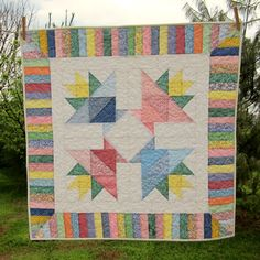 Basket Pastel Quilt by thequilthaus on Etsy, $59.00