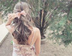 cute hair and bow
