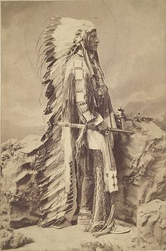 Portrait of Little Wound, Oglallah Chief by C.M. Bell, long time Washington photographer (c. 1872).