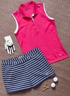 Golf, a poplar sport played by many people around the world. Golf through the years has had off and it is now a favorite sport for all those. Although golf is Nike Womens Golf, Women Nike, Womens Golf Attire, Cute Golf Outfit, Girl Golf Outfit, Girls Golf, Golf Tips For Beginners, Golf Wear, Golf Shoes