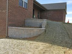 Landscape Wall #kentuckytwist, #thealternativelandscapecompany, #nicolock Landscaping Company, Landscape Walls, Alternative, Sidewalk, Patio, Outdoor Decor, Projects, Home Decor, Log Projects