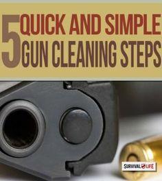Firearm Maintenance: Prepping Your Firearms   Basic survival skills at survivallife.com #survivalskills #survivaltips #offgridsurvival