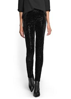 Velvet + sequinned. Want these for New Years!