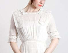 White Edwardian gown | VeraVague on Etsy