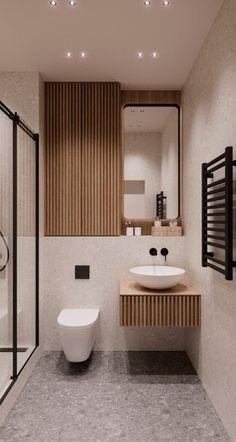 Bathroom Design Small, Bathroom Interior Design, Home Room Design, House Design, Toilet Design, Upstairs Bathrooms, Bathroom Trends, House Rooms, Bathroom Inspiration