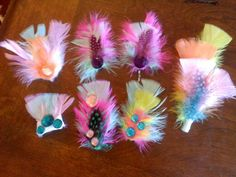 feather hair clips & pins
