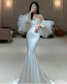 Glam Dresses, Event Dresses, Pretty Dresses, Bridal Dresses, Beautiful Dresses, Fashion Dresses, Gorgeous Wedding Dress, Dream Wedding Dresses, Fancy Gowns