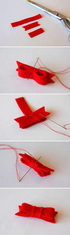 Red felt knot