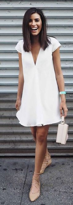 awesome simple white dress ...