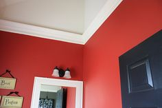 Floating crown molding- to give rooms with vaulted ceilings an intimate feel.