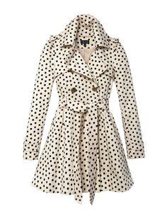 Polka Dot Trench Coat #dots #fashion #Sewcratic