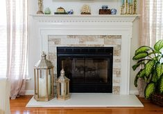Refacing The Fireplace - Butterflies and Baubles Airstone, Marble Tiles, Faux Stone, Fireplace Surrounds, Rustic Style, Get One, Hearth, Butterflies, Warm
