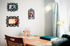 Re-Stickable Decal Photo Frames from photojojo
