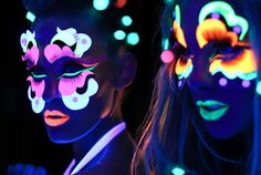 Black Light Beauty: Rave Makeup