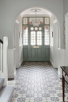 hallway flooring Home Renovation Design Awesome 20 Fabulous Hallway Decor Ideas For Home. - Hallways are often overlooked when decorating a home. Homeowners are so focused on designing beautiful rooms, that the hallways wind [] Tiled Hallway, Hallway Flooring, Modern Hallway, Grey Hallway, Tile Flooring, Tile Entryway, Hallway Paint, Modern Staircase, Flooring Ideas