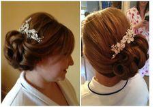 Hair and make up by Miss Barton's salon  #glasgow #westend #hairupdo #hair #colour #prom #bridal
