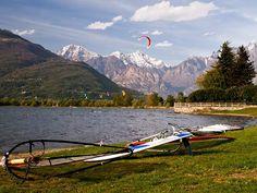 Windsurfing on Lake Como
