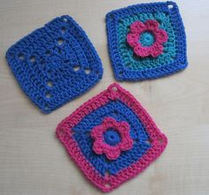 Little things made with love♥: Flower Square Pattern