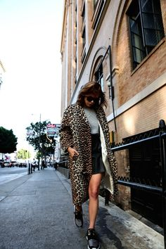 How to Style A Leopard Coat This Fall
