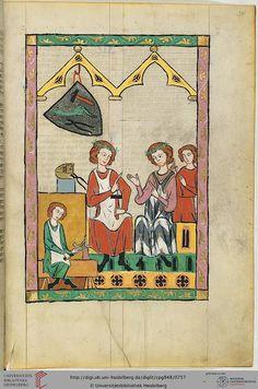 Cod. Pal. germ. 848: Große Heidelberger Liederhandschrift (Codex Manesse) (Zürich, ca. 1300 bis ca. 1340), Fol 381r