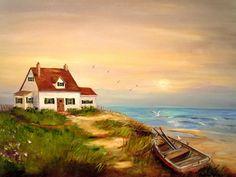 Barbara Pirkle. Cottage by sea