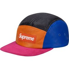 HEAD  Leather Suede multicolored Camp Cap 1fc70bf490a0