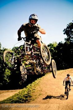 Four wheel downhill bike. How cool is that!?