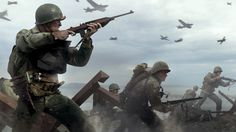 Awesome Call of Duty: WWII Soldiers in War wallpaper